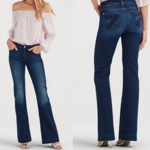 7 for All Mankind Dojo Flare Denim Jeans Size 28